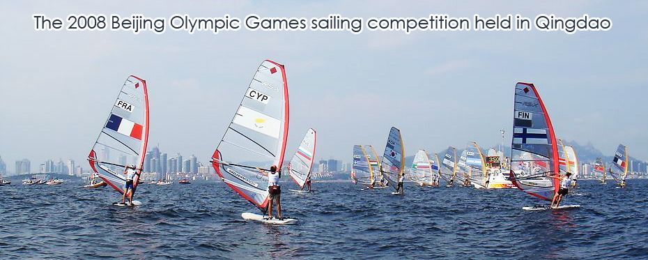 The 2008 Beijing Olympic Games sailing competition held in Qingdao